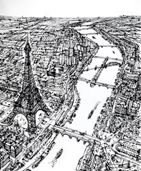 Above Quai de Grenelle by Ingo -  sized 48x59 inches. Available from Whitewall Galleries